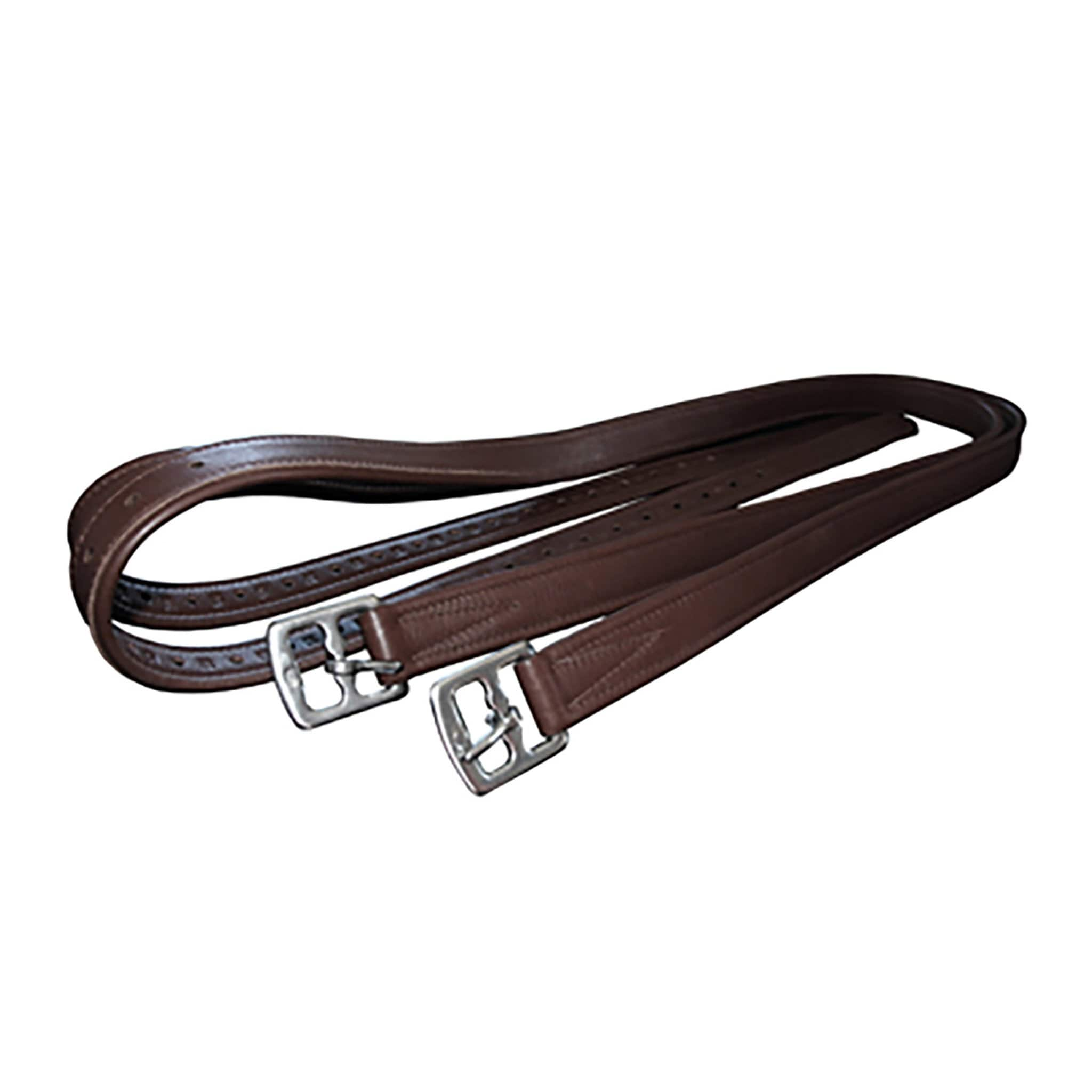 Mark Todd Bonded Stirrup Leathers TOD884171 Havana Brown