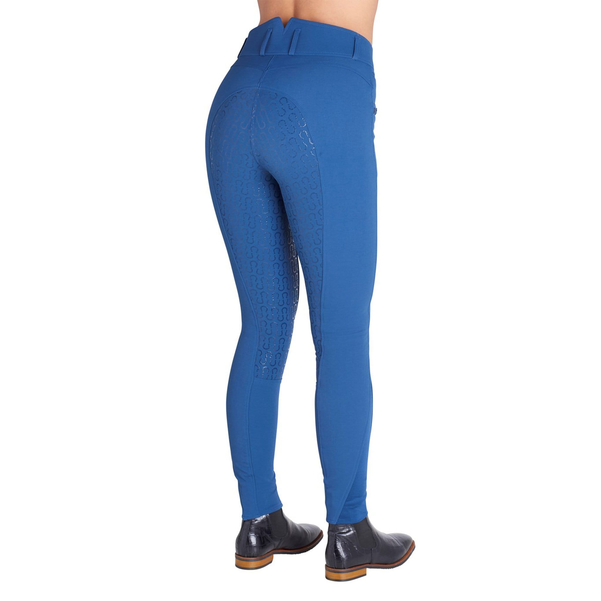 Montar Molly High Waist Silicone Full Seat Breeches 17113 Mid-Blue On Model