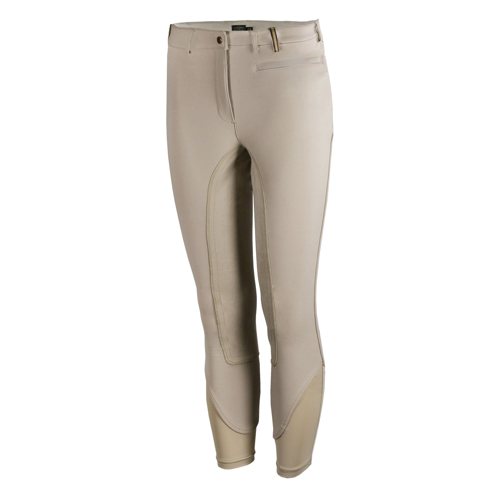 Noble Equestrian Signature Alos Full Seat Breeches Tan Front 24006