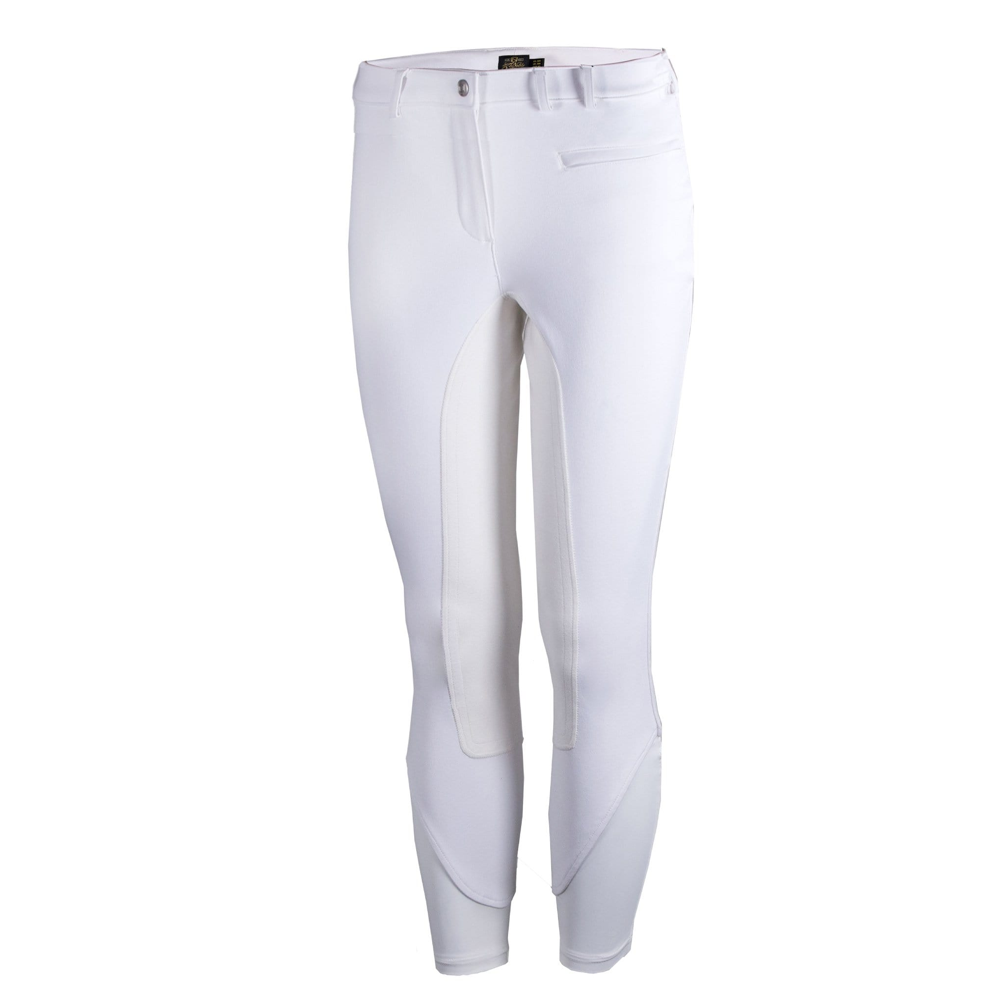 Noble Equestrian Signature Alos Full Seat Breeches White Front 24006