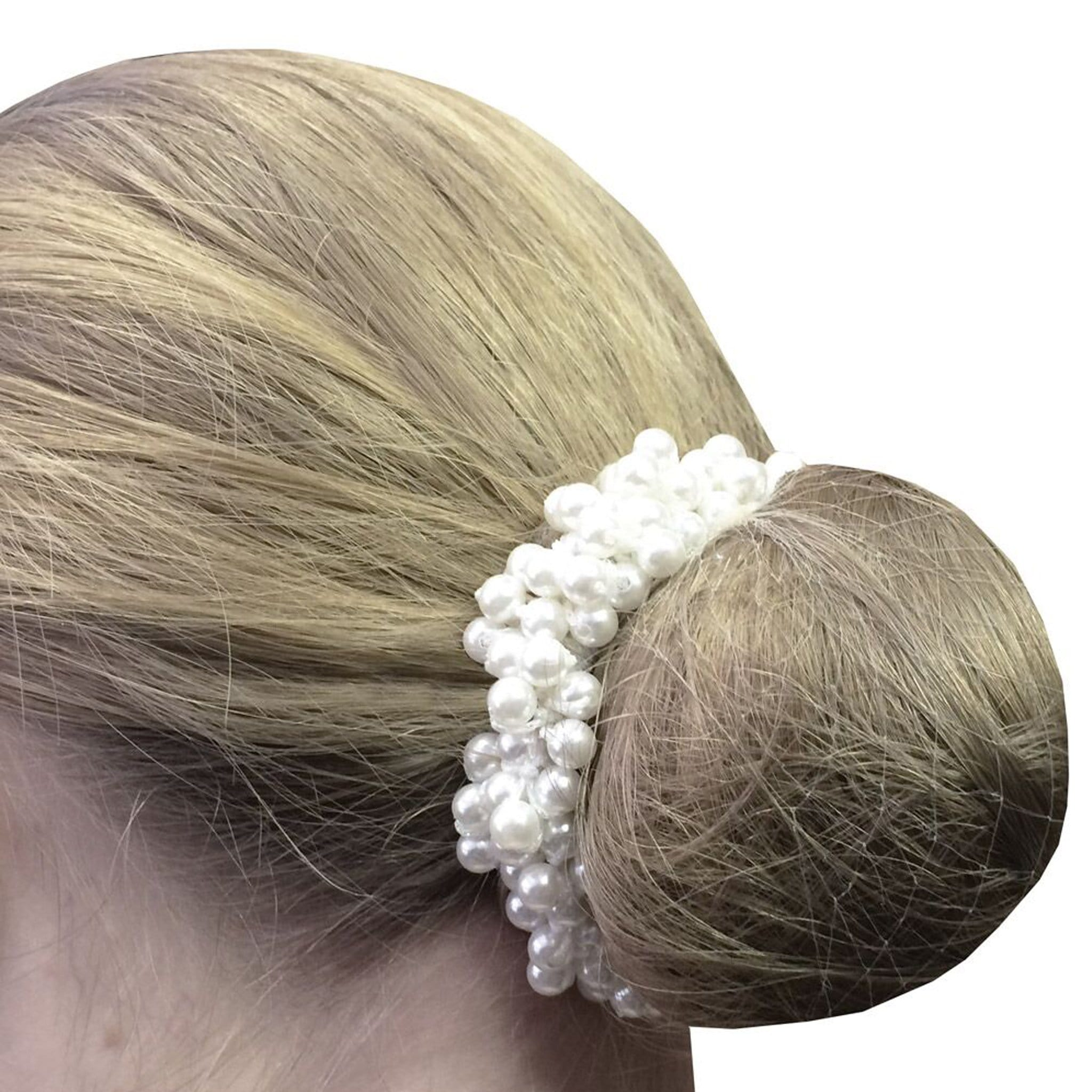 Equetech Pearl Beaded Scrunchie Ivory PBR