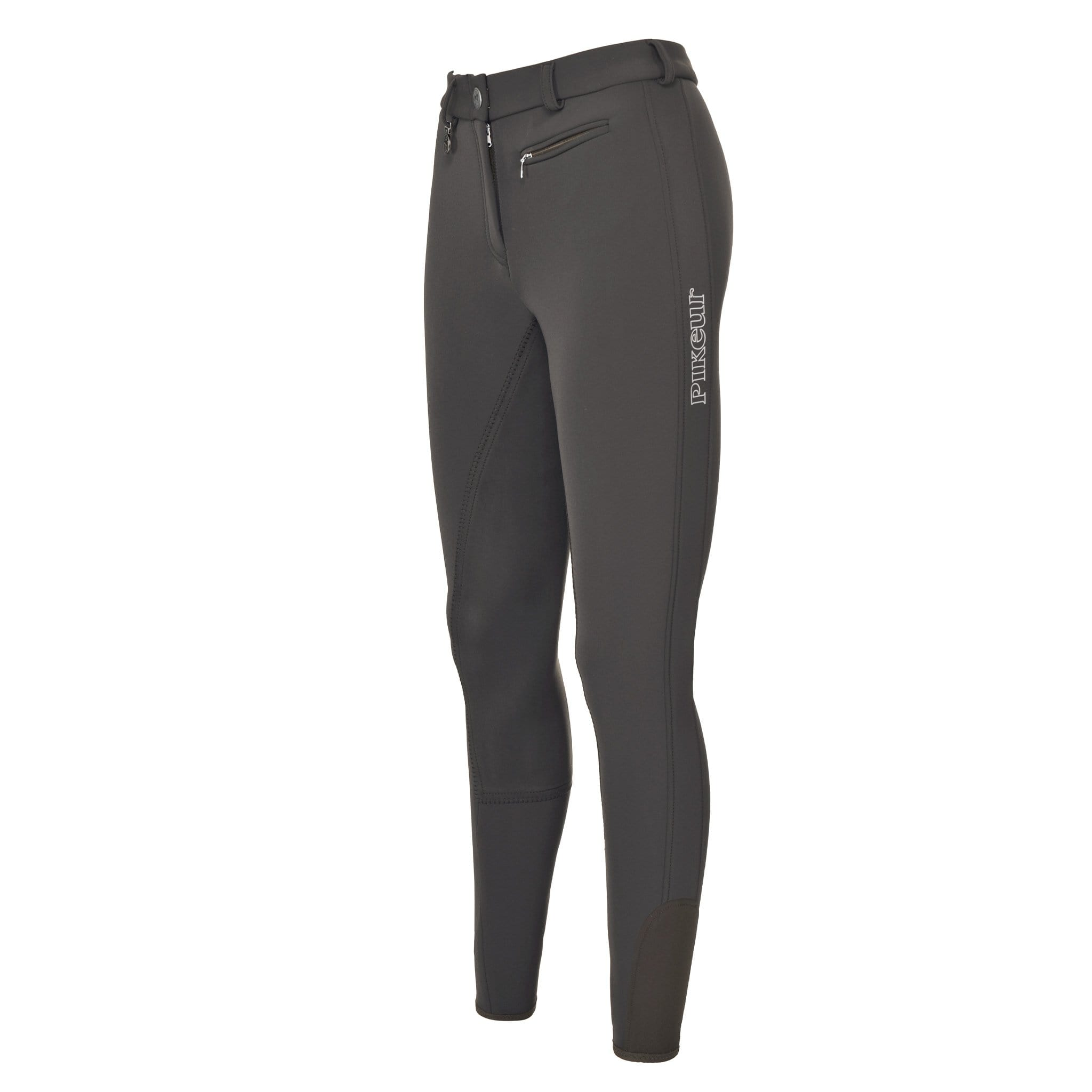Pikeur Lucinda Softshell Alos Full Seat Breeches 140057 Anthracite Front