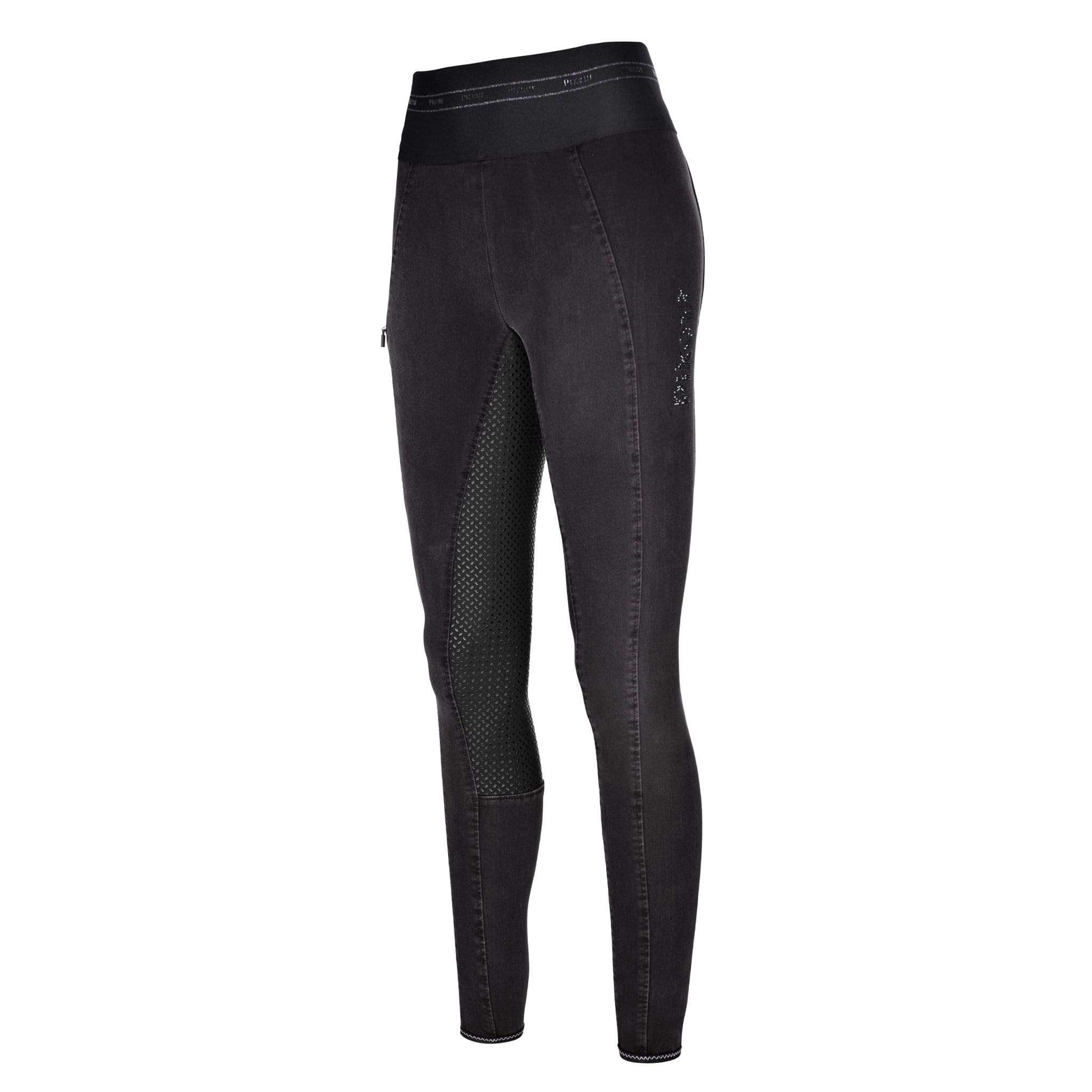 Pikeur Ivana Denim Silicone Full Seat Breeches 146816 Black Front