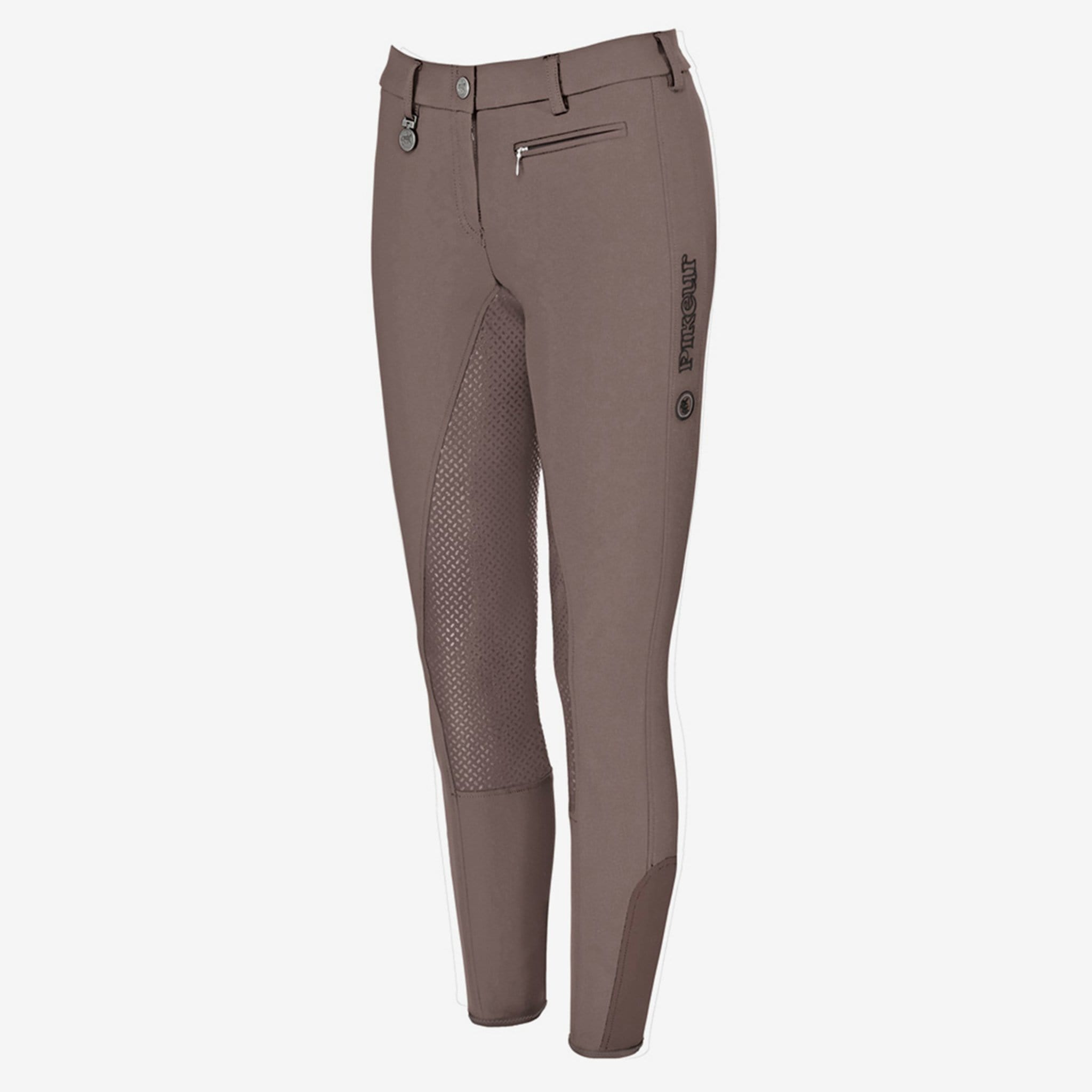 Pikeur Lucinda Grip Silicone Full Seat Breeches - Truffle - UK 8