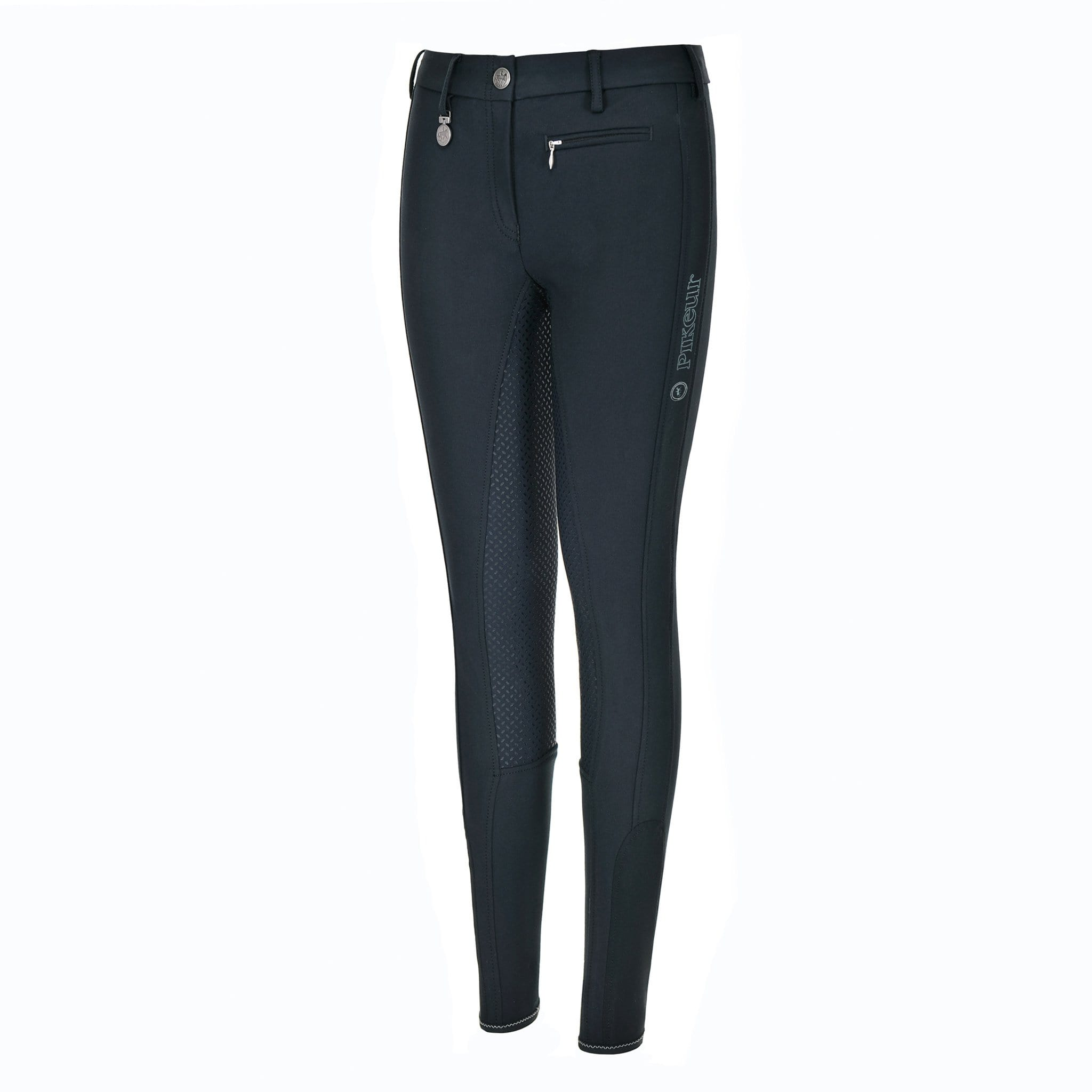 Pikeur Girls Lucinda Slim Grip Silicone Full Seat Breeches 148206 Dark Shadow Front