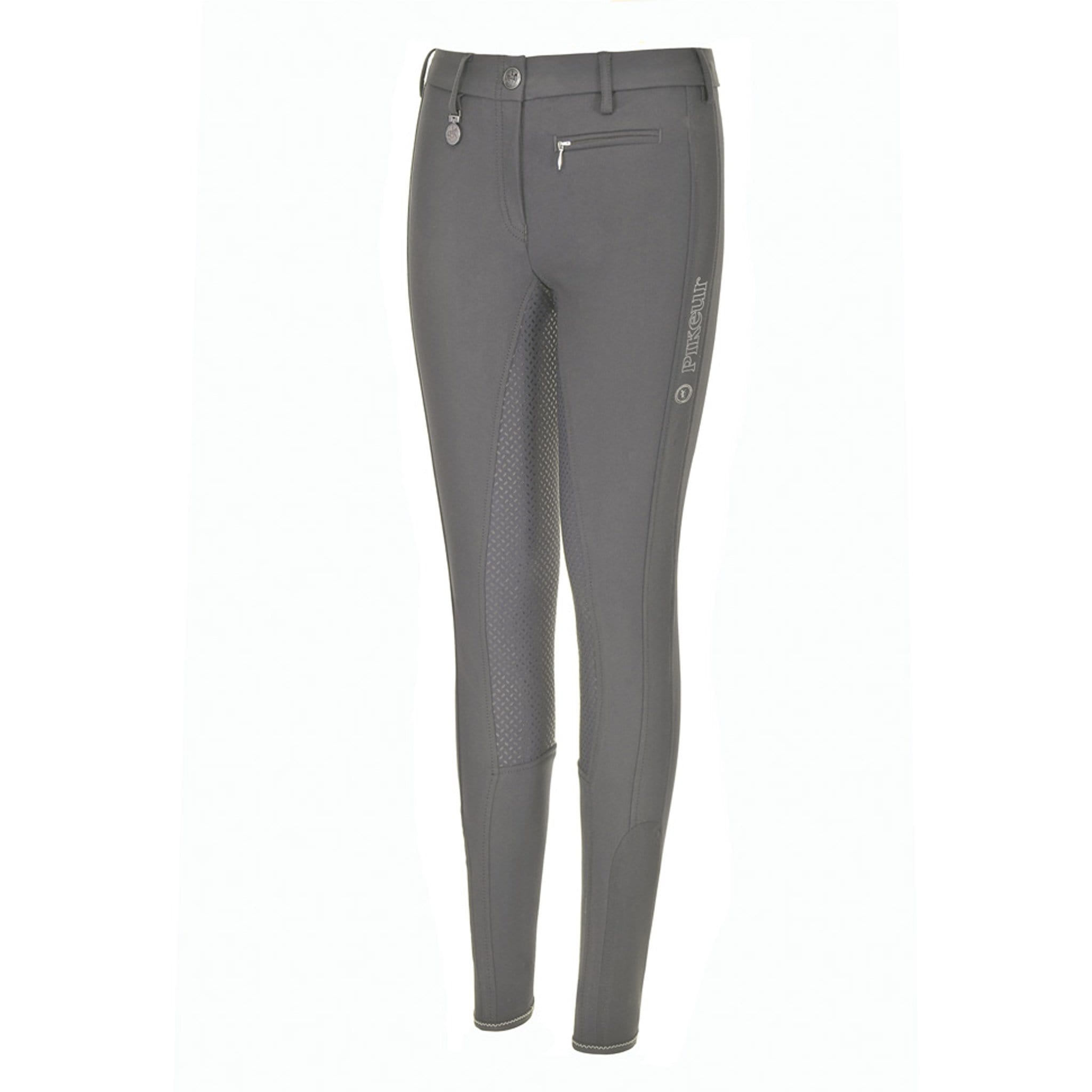 Pikeur Girls Lucinda Grip Silicone Full Seat Breeches 148106 Light Grey