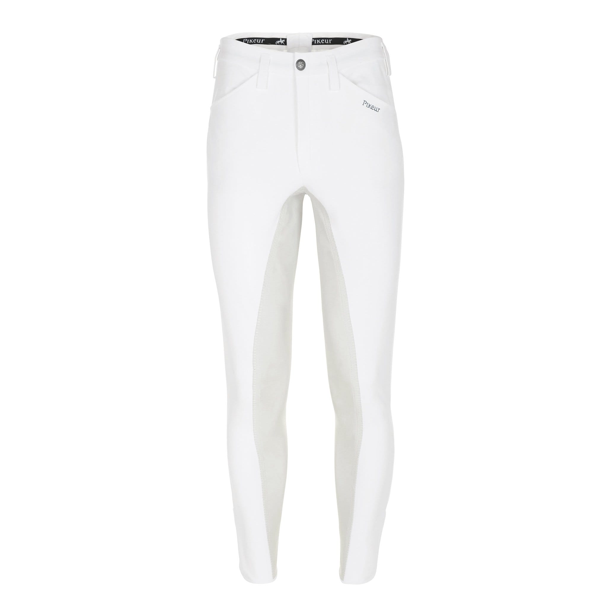 Pikeur Men's Rossini Alos Full Seat Breeches 147507 White Front