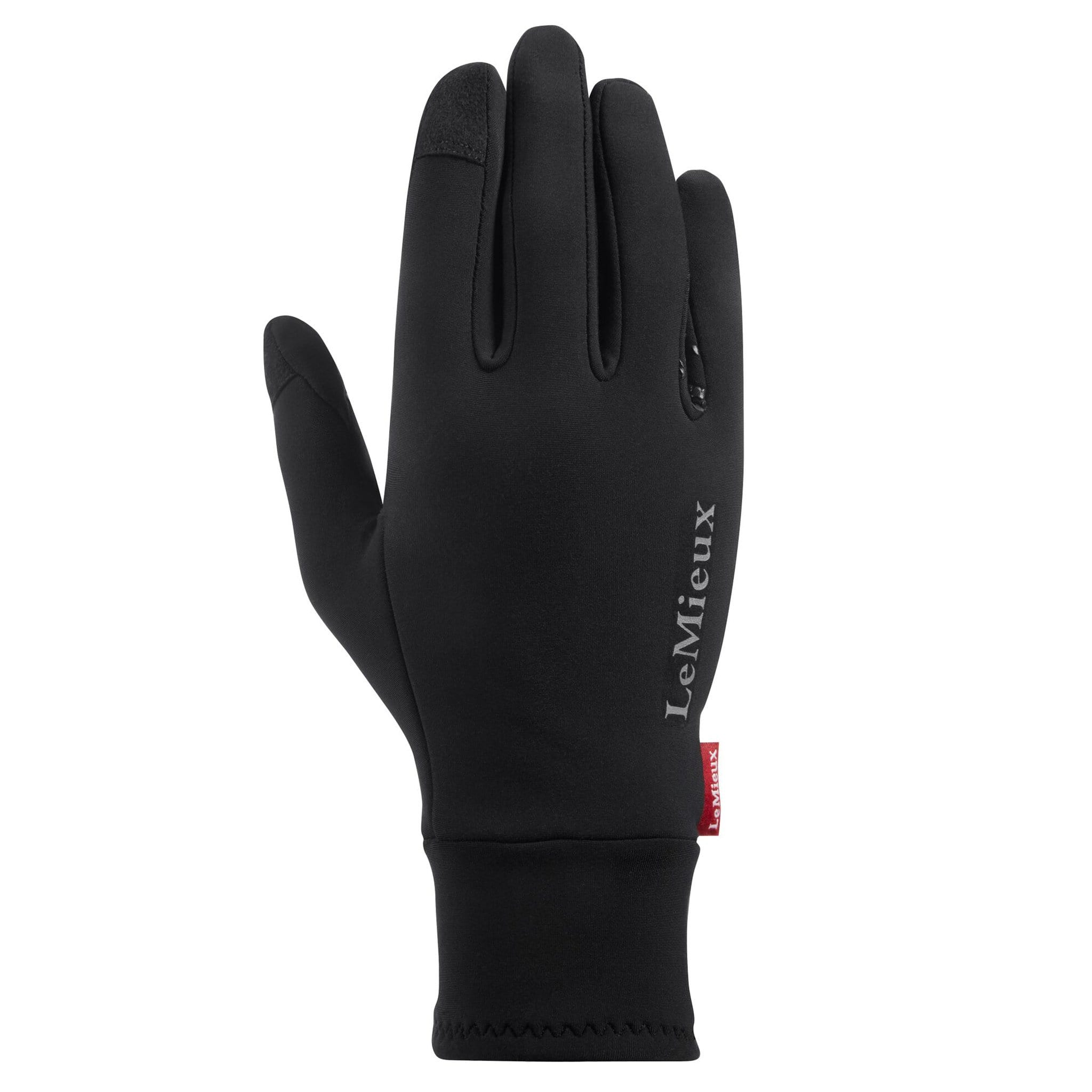 LeMieux Polar Grip Gloves Back Black 6136