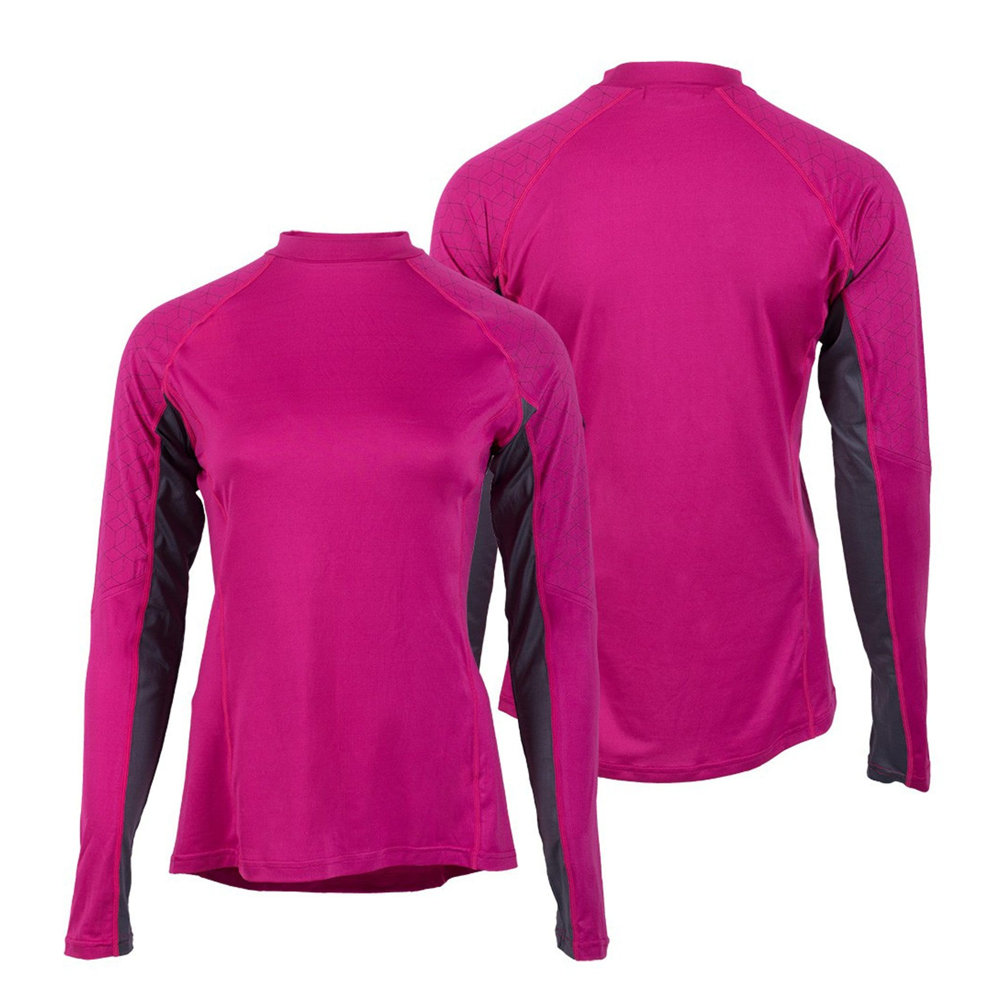QHP Children's Eldorado Contrast Base Layer 8314 Pink Front and Back