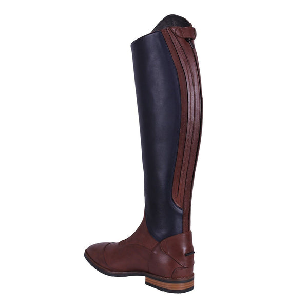 QHP Shiva Riding Boots Navy & Brown Rear Inside