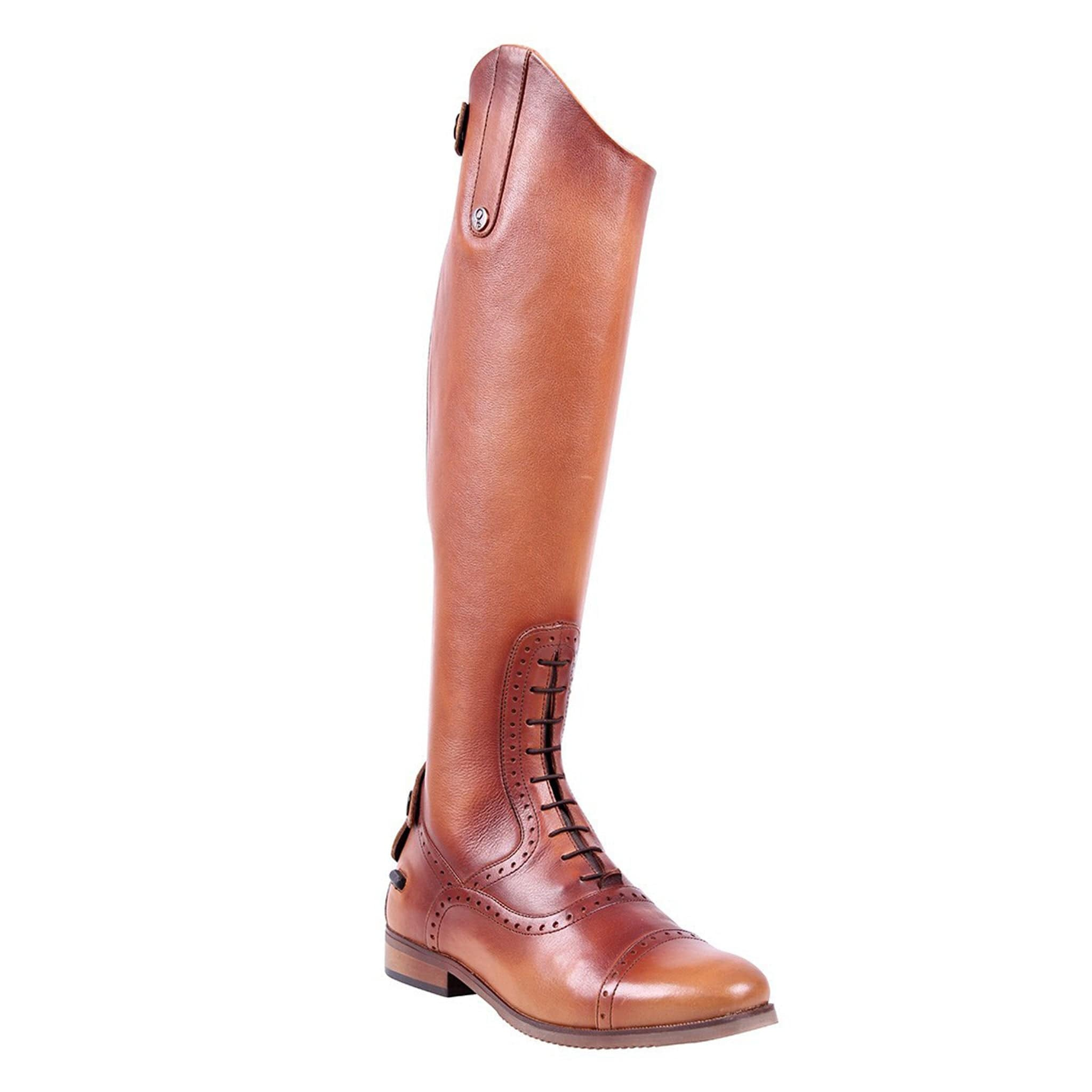 QHP Sophia Riding Boots Cognac Front Outside