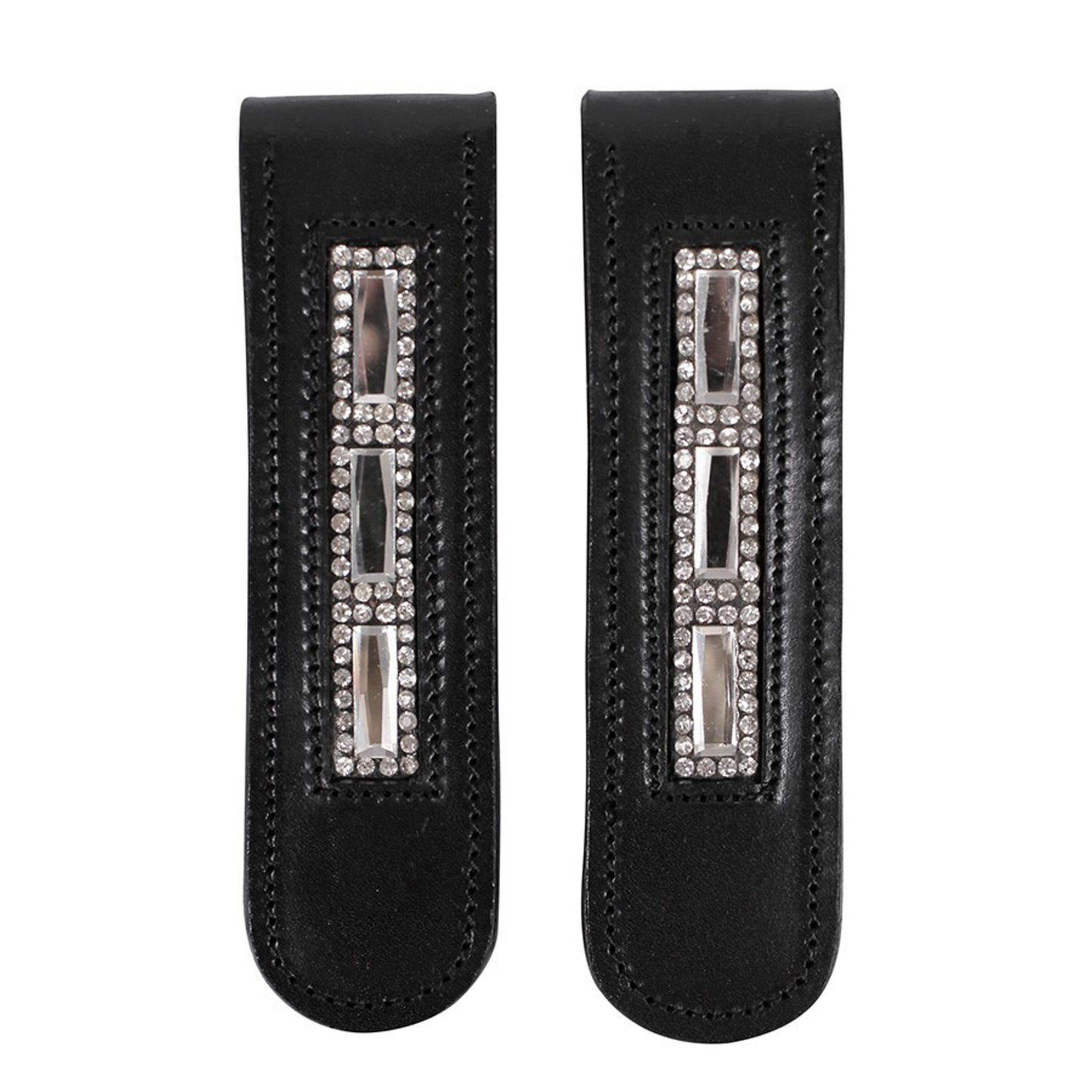 QHP Taylor Boot Clip 7126 Black and Silver Pair