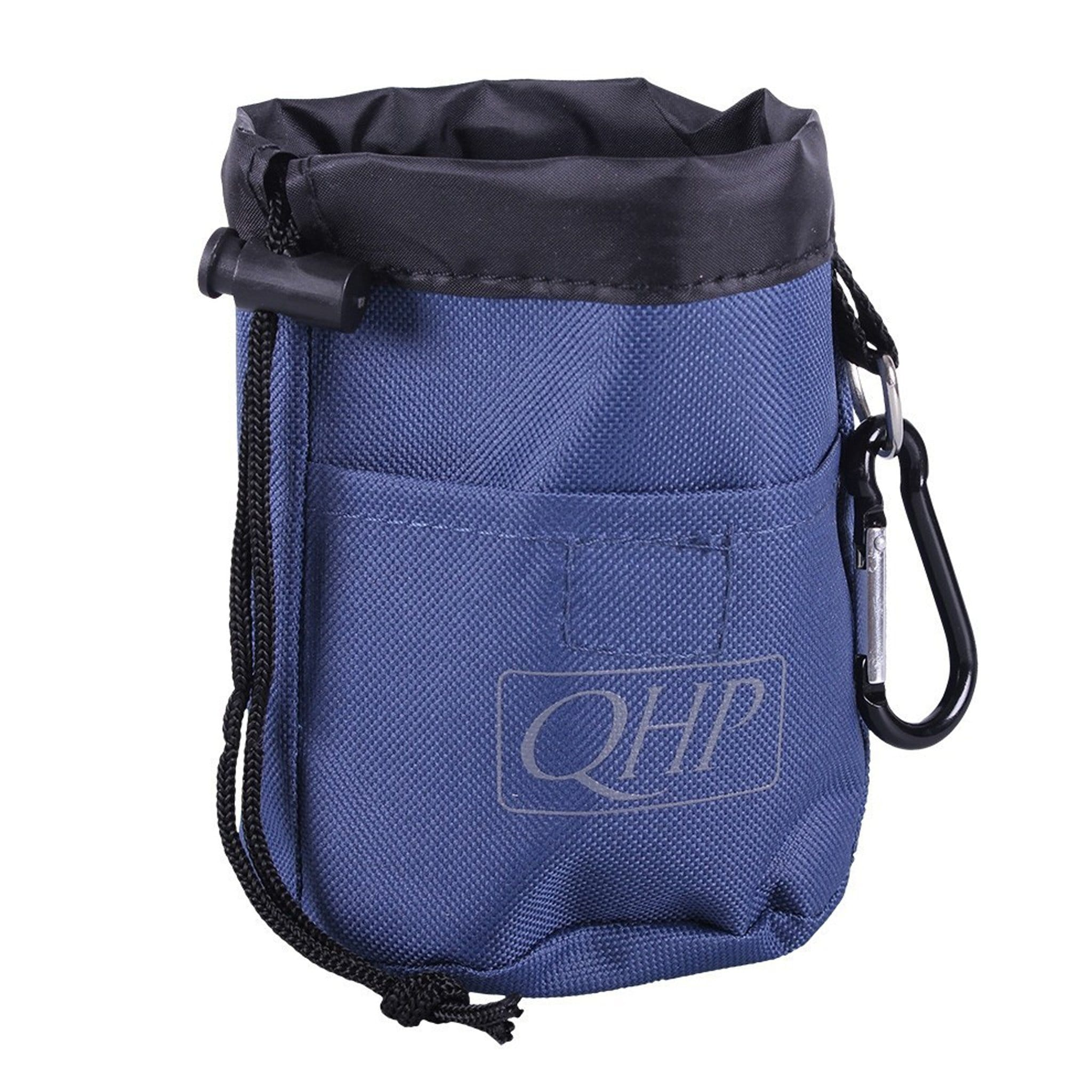QHP Treat Bag 5260 Navy and Grey Front