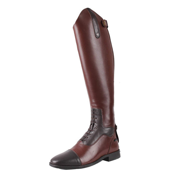 QHP Verena Riding Boots Dark Brown Outside Front