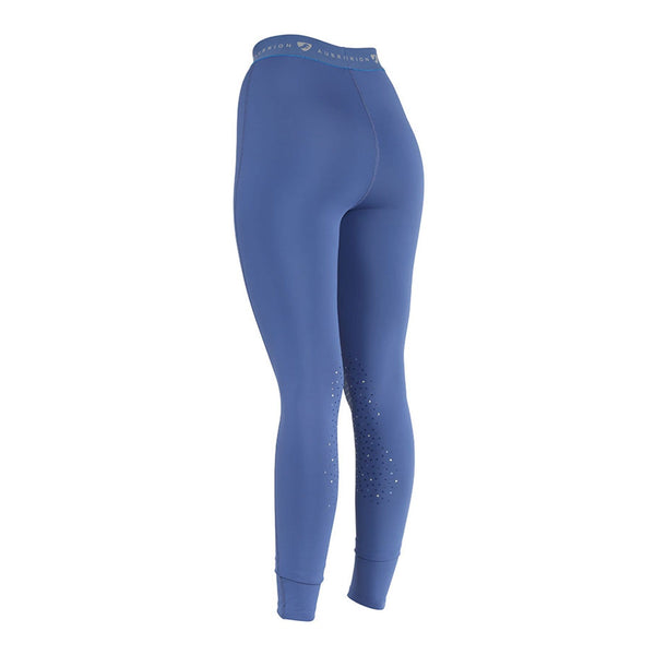 Shires Aubrion Dutton Riding Tights Blue Rear 8139