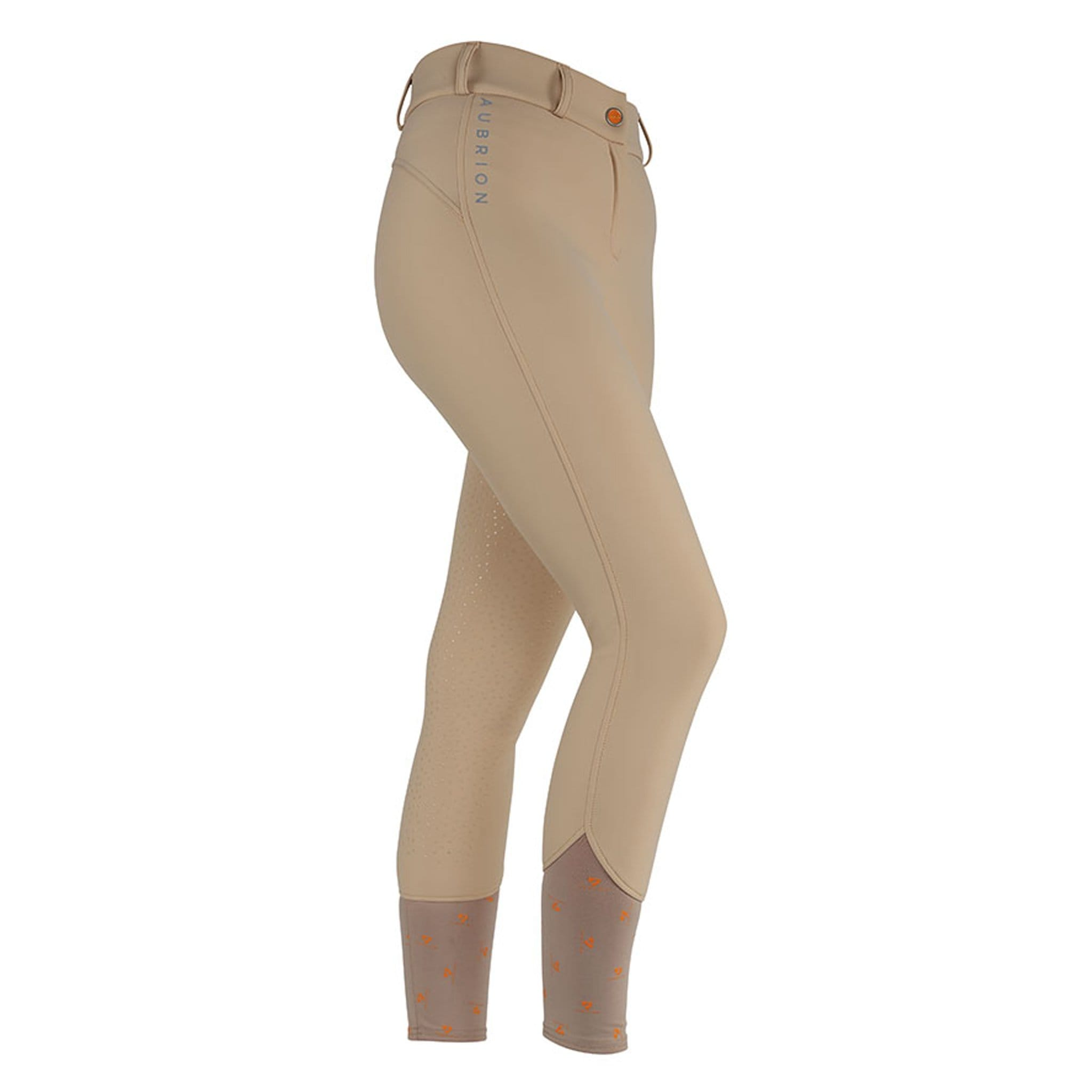 Shires Aubrion Greydock Silicone Full Seat Breeches 8126 Beige Front and Side