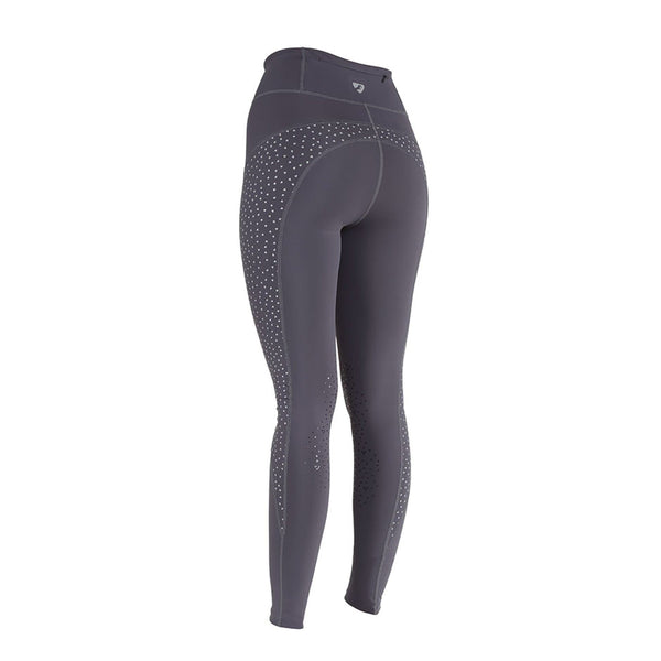 Shires Aubrion Tinkham Reflective Riding Tights 8128 Grey Back