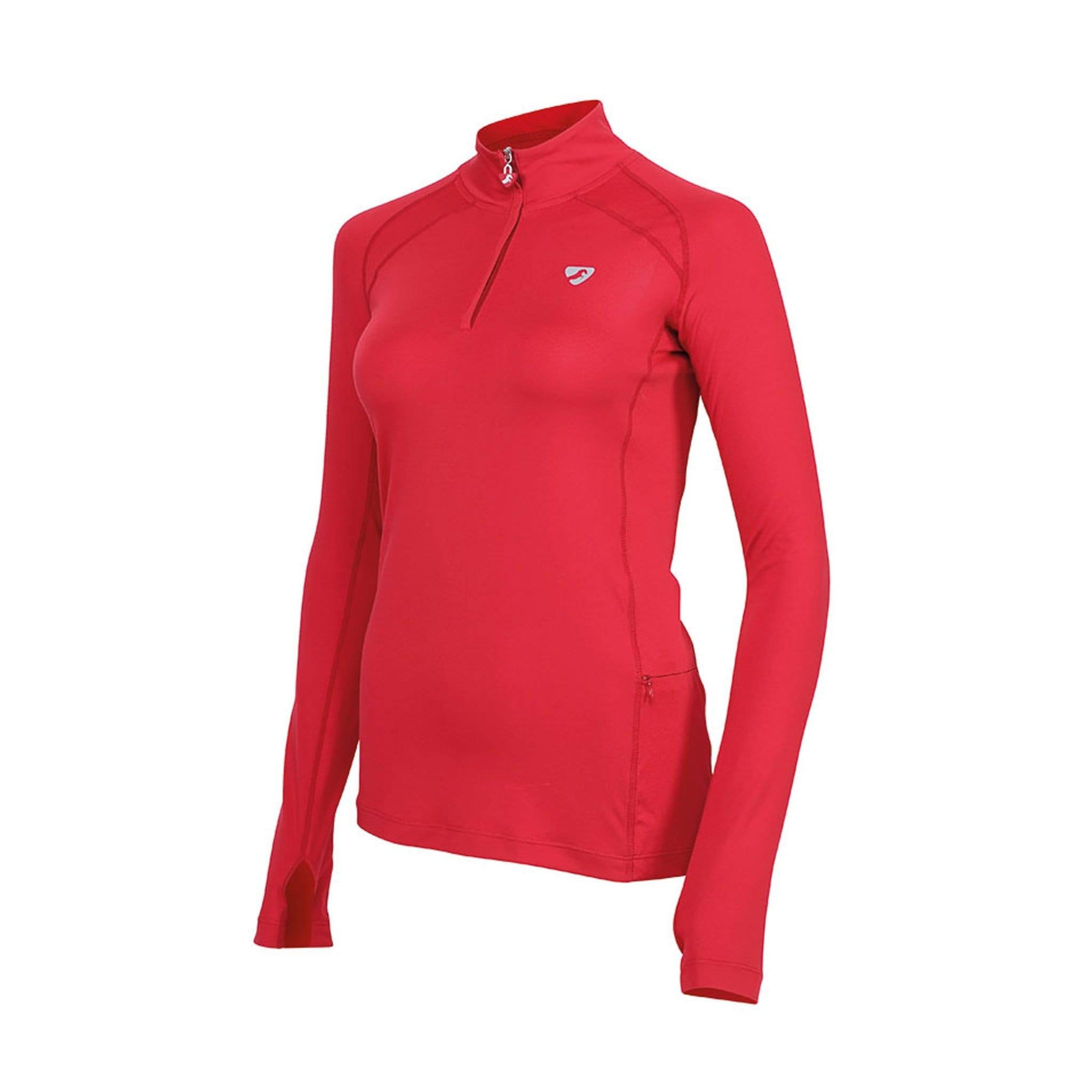 Shires Aubrion Tipton Long Sleeve Base Layer 8110 Red