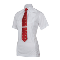 Shires Aubrion Mens Short Sleeve Equestrian Competition Tie Shirt