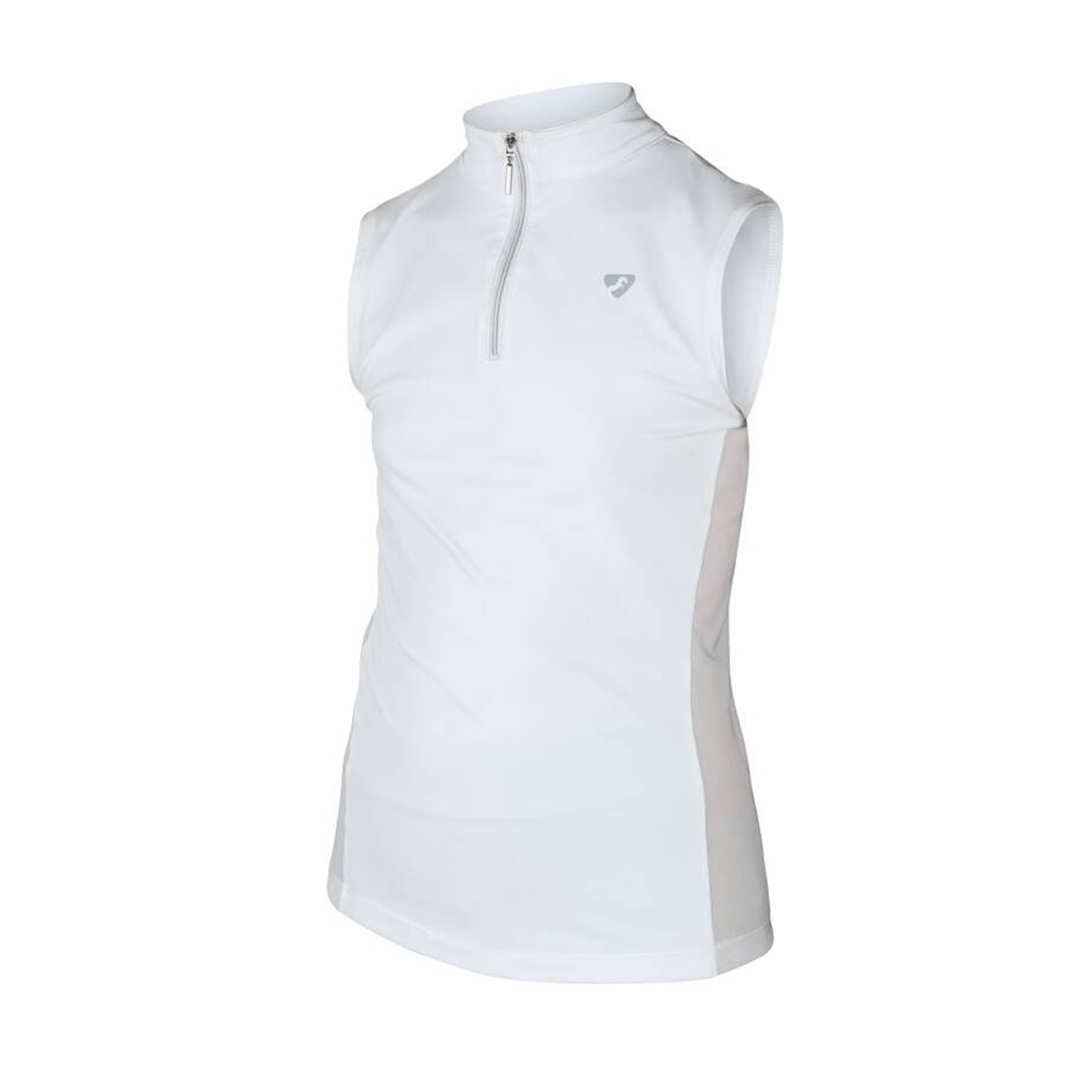 Shires Aubrion Girl's Elden Show Shirt White Front 8121M