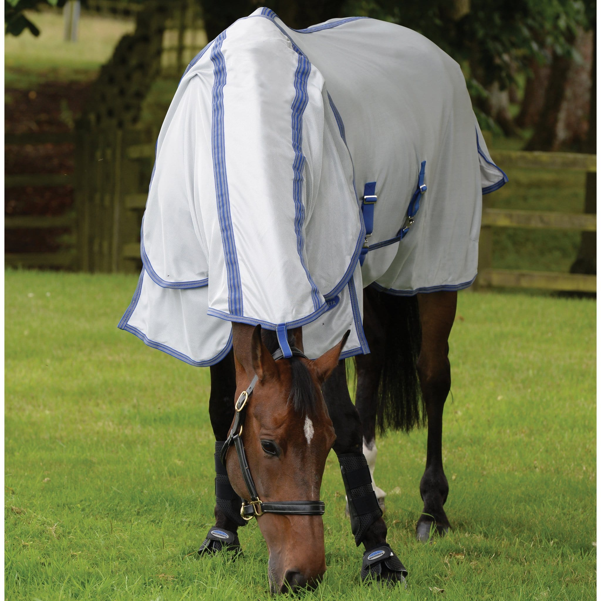 Weatherbeeta ComFiTec Airflow Detachable Neck Fly Rug Storm Grey 812434 Horse Grazing