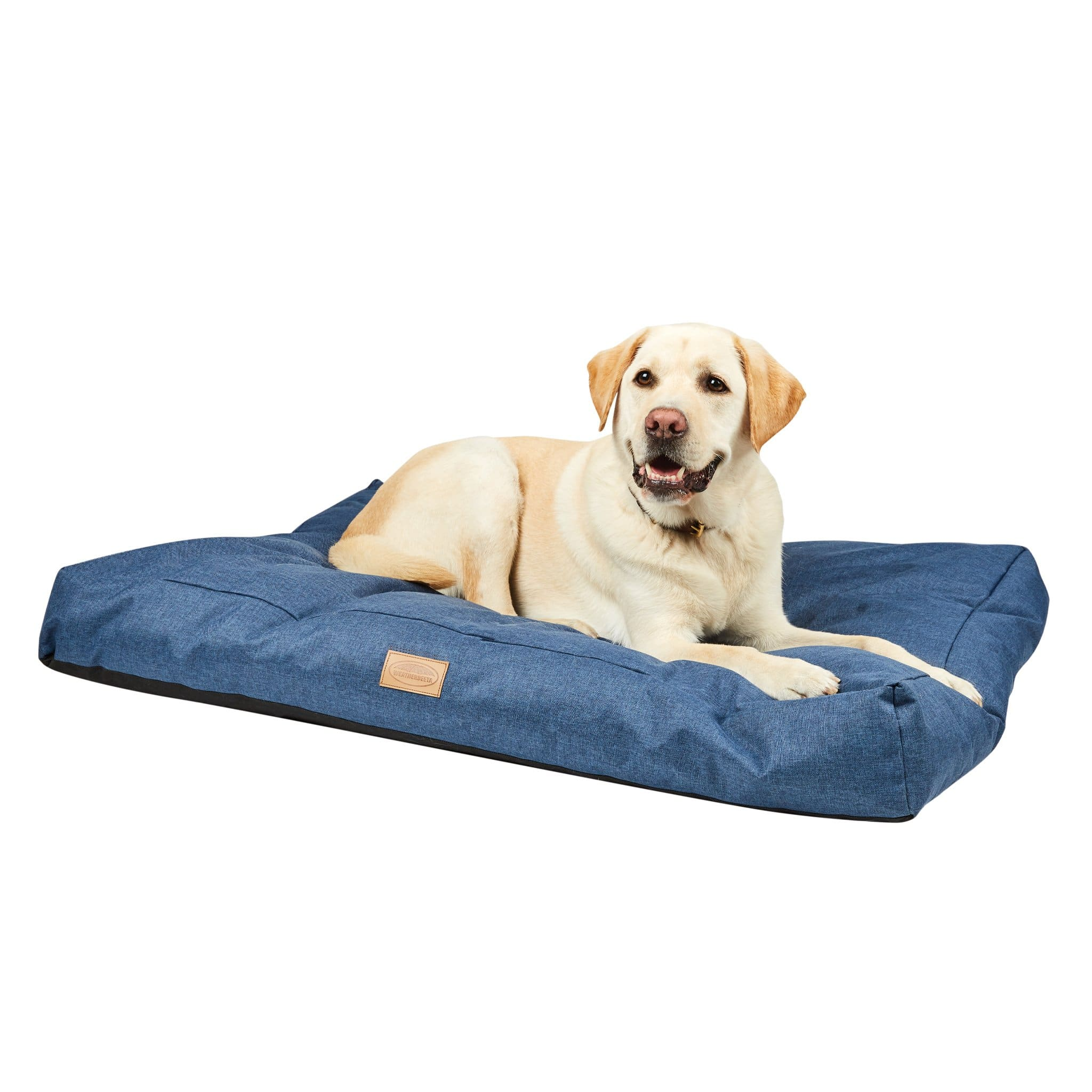 Weatherbeeta Denim Pillow Dog Bed 1001709001 Blue With Dog