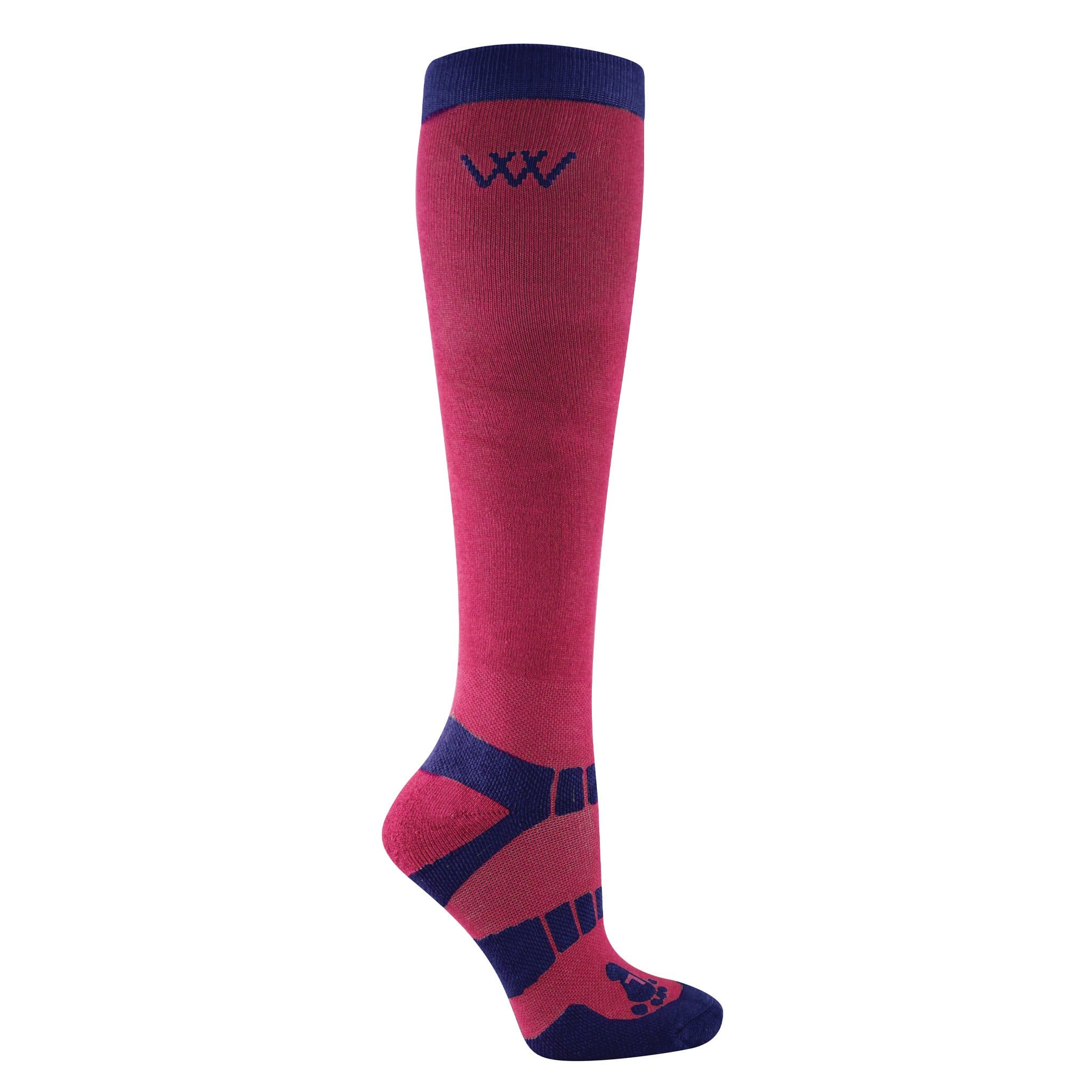 Woof Wear Winter Riding Socks 2 Pack Shiraz WW0015