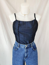 Load image into Gallery viewer, Vintage navy taffeta bodice