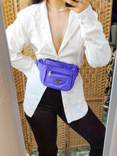 Load image into Gallery viewer, Vintage purple nylon bumbag