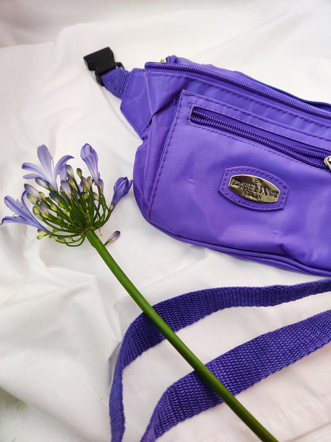 Vintage purple nylon bumbag