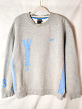 Load image into Gallery viewer, Vintage Nike grey and blue sweatshirt