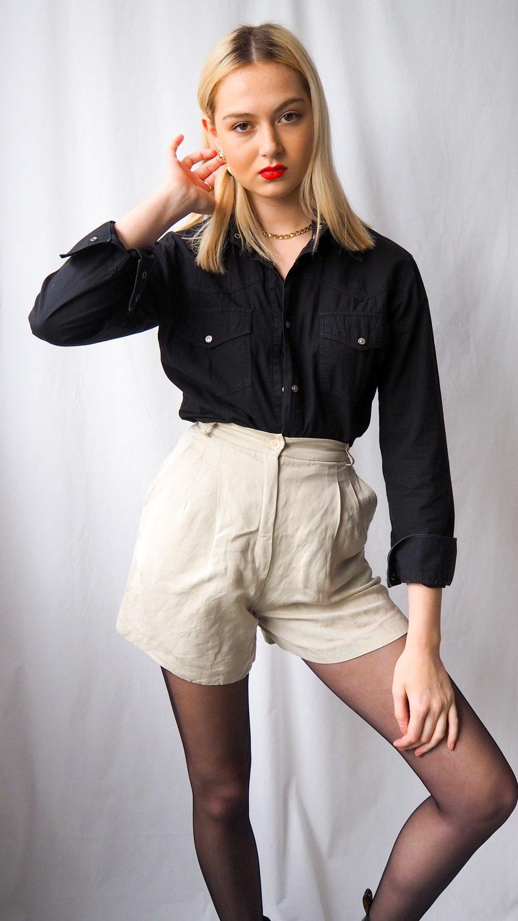 Vintage Max Mara high waist shorts