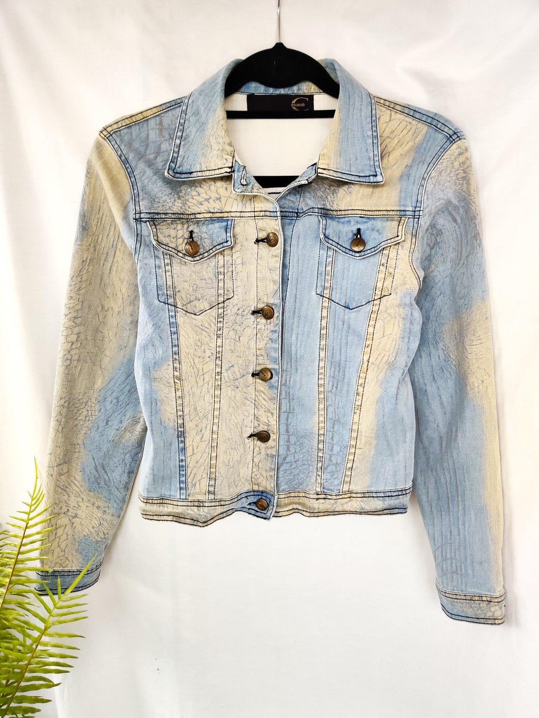 Vintage Cavalli bleach effect denim jacket