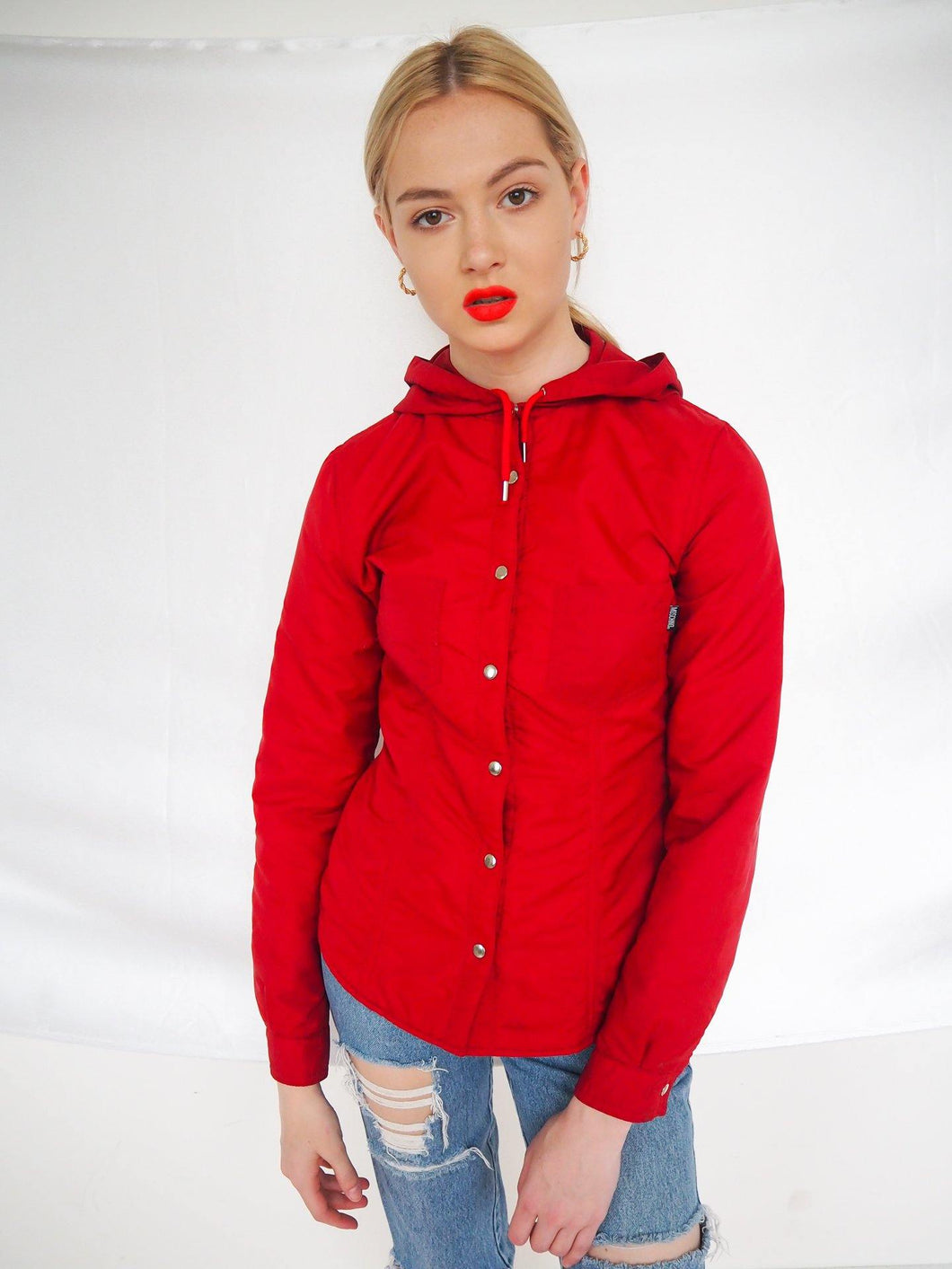 Vintage red Moschino button up jacket