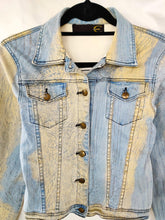 Load image into Gallery viewer, Vintage Cavalli bleach effect denim jacket