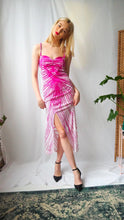 Load image into Gallery viewer, Vintage pink and white patterned dress