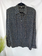 Load image into Gallery viewer, Vintage black polka dot blouse