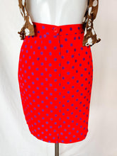 Load image into Gallery viewer, Vintage red and purple polka dot skirt