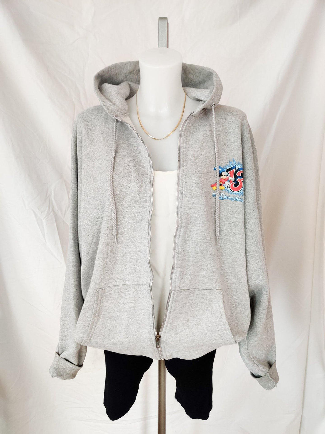 Disney 2013 grey zip up hoodie