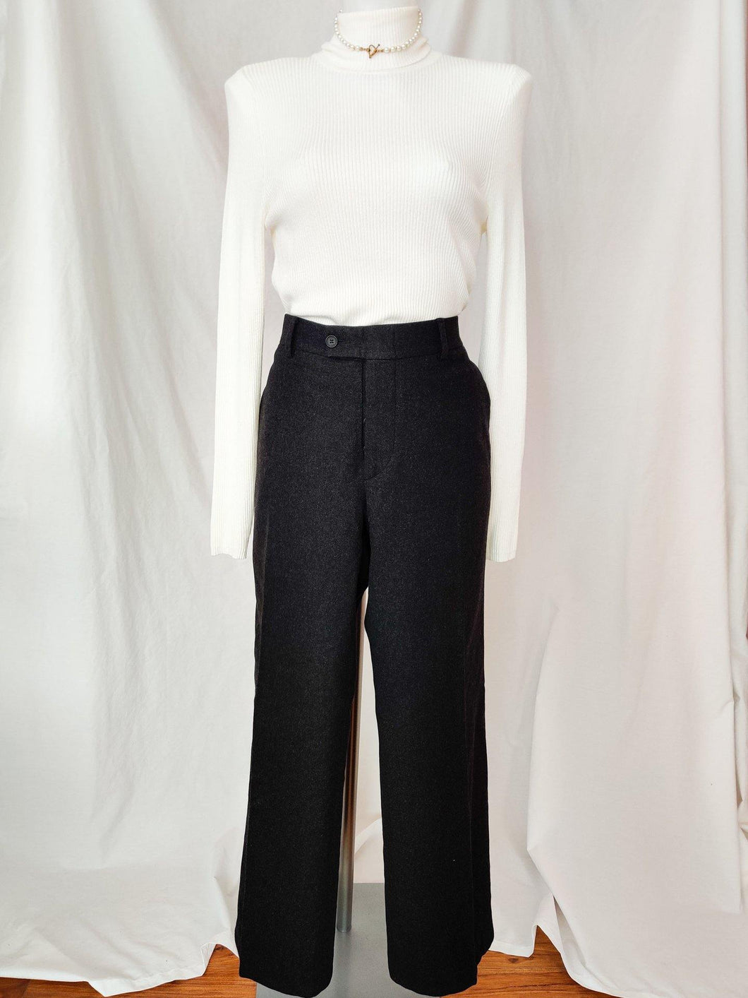 Vintage Gucci high rise wool trousers