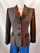 Load image into Gallery viewer, Vintage Moschino brown tailored blazer