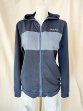Load image into Gallery viewer, Vintage Adidas navy and blue zip up hoodie
