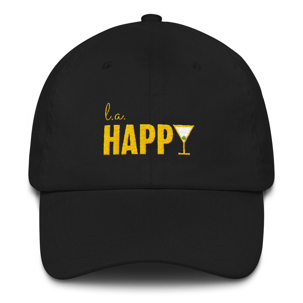 L.A. Happy Show Dad Hat in Black