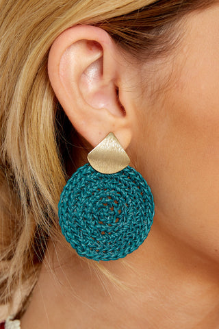 Another Kind Of Love Dark Turquoise Earrings
