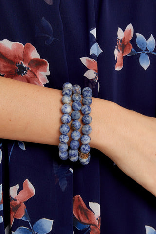 The Best Part Dark Blue Beaded Bracelet Set