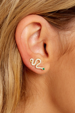 Come Slither Gold Earrings