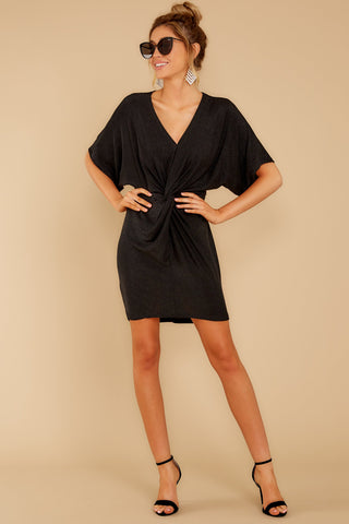Worth Its Weight Black Shimmer Dress