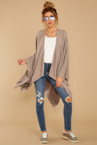 CozyChic® Heathered Driftwood Weekend Wrap