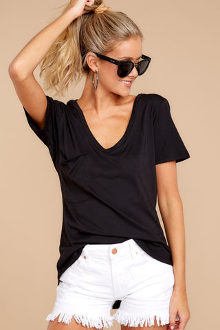 Modal Pocket Tee In Black