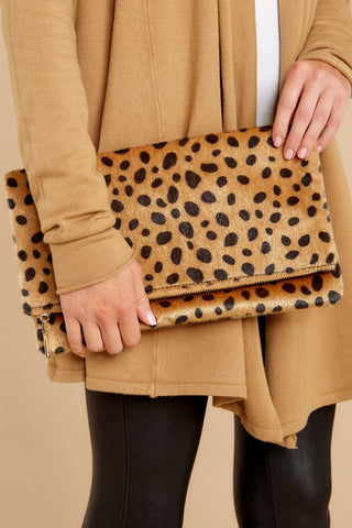 Concrete Jungle Cheetah Print Clutch